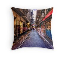 Melbourne's famous laneways Throw Pillow