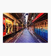 Melbourne's famous laneways Photographic Print
