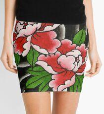 Traditional Japanese peony flower Mini Skirt