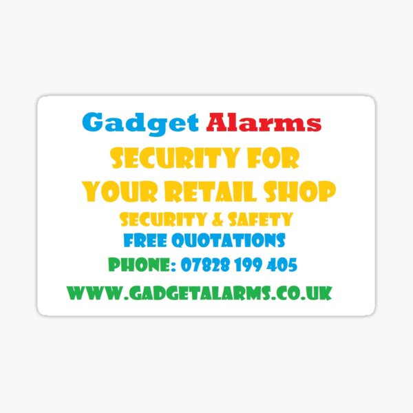Gadget Alarms - Security & Safety Sticker
