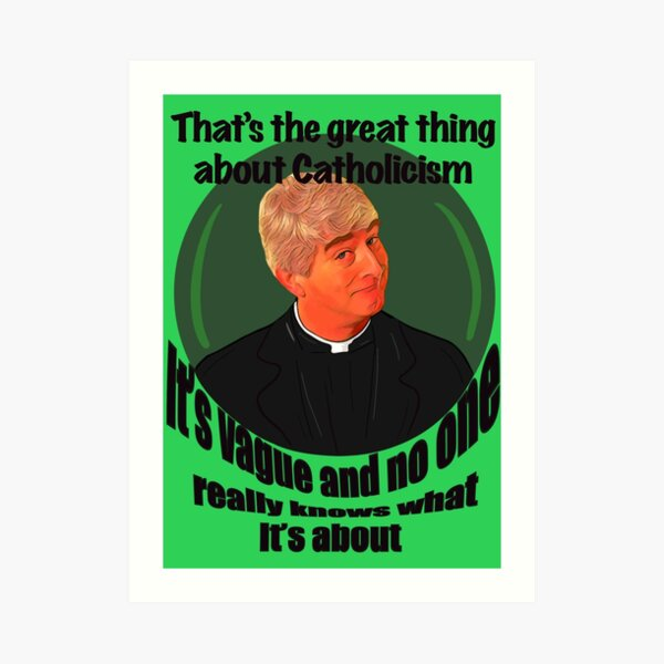 Father ted Art Print