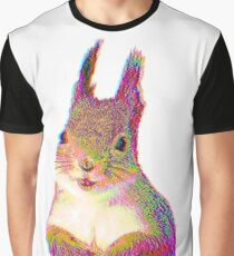 Psychedelic Squirrel Graphic T-Shirt