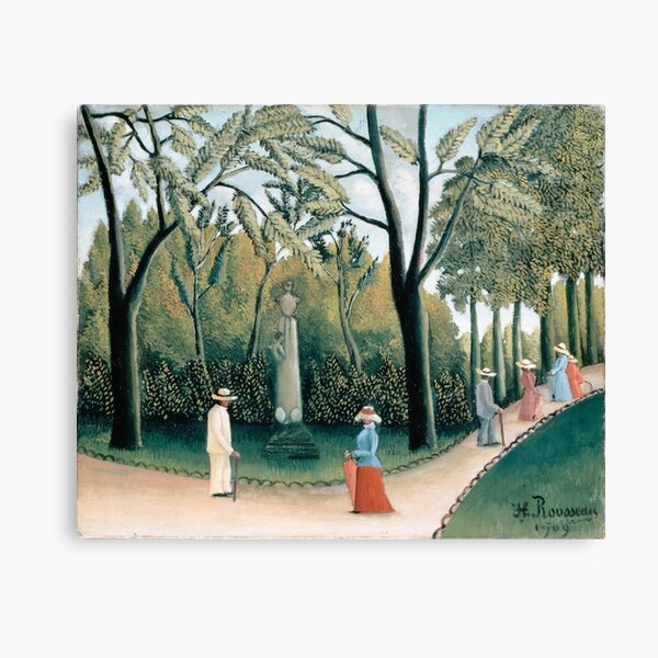 Luxembourg Gardens. Monument to Chopin By Henri Rousseau. Canvas Print