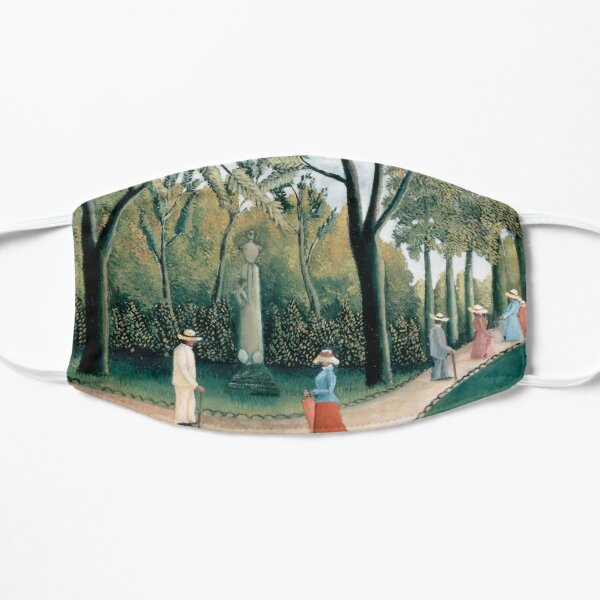 Luxembourg Gardens. Monument to Chopin By Henri Rousseau. Flat Mask