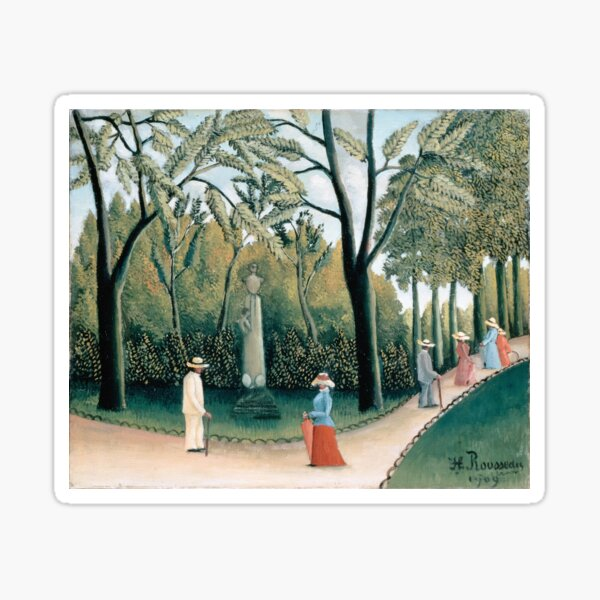 Luxembourg Gardens. Monument to Chopin By Henri Rousseau. Sticker