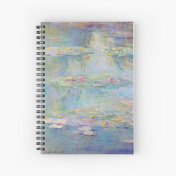 Les Nymphéas Bleu Sarcelle de Claude Monet - Teal blue Water Lilies  Spiral Notebook