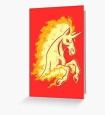 Blazing Stallion Greeting Card
