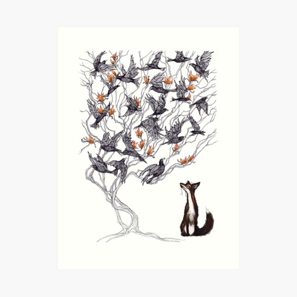The Fox and the Crow Art Print