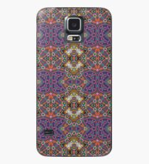 Purple Quilted Flannel Pattern Case/Skin for Samsung Galaxy