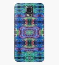 Blue Green Abstract Squares Mandala Case/Skin for Samsung Galaxy
