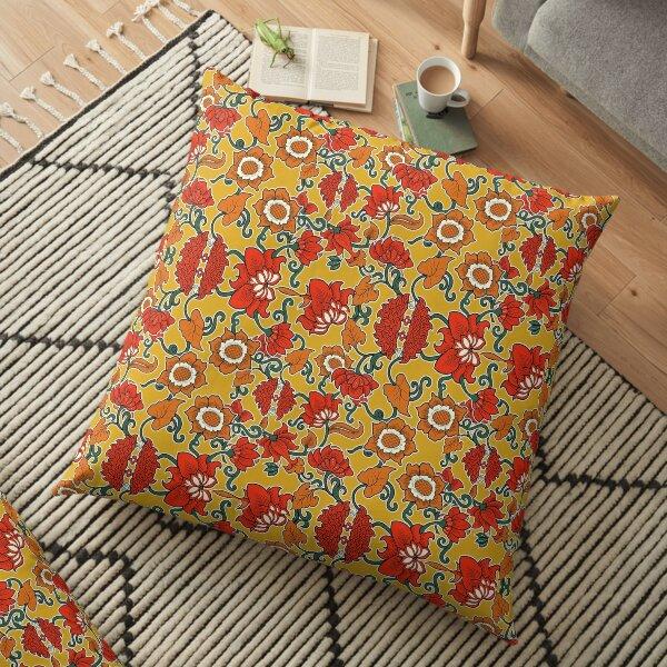Bright Batik Indonesia Wit Flower Theme Floor Pillow