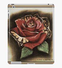 Rose butterfly morph iPad Case/Skin