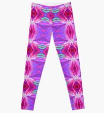 Pink Teal Violet Triangles Pattern Leggings