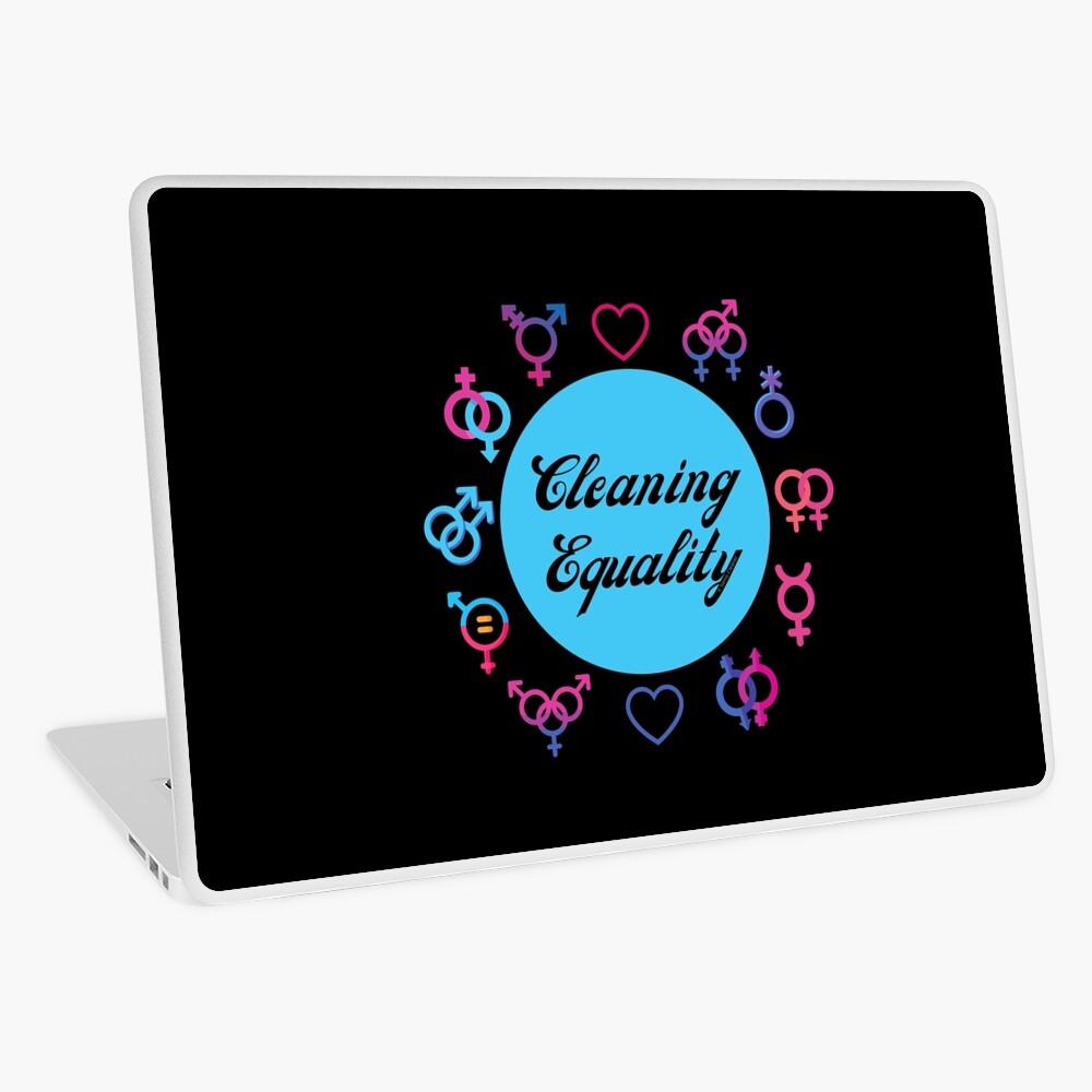 Cleaning Equality Gender Inclusive Housekeeping Pride Laptop Skin
