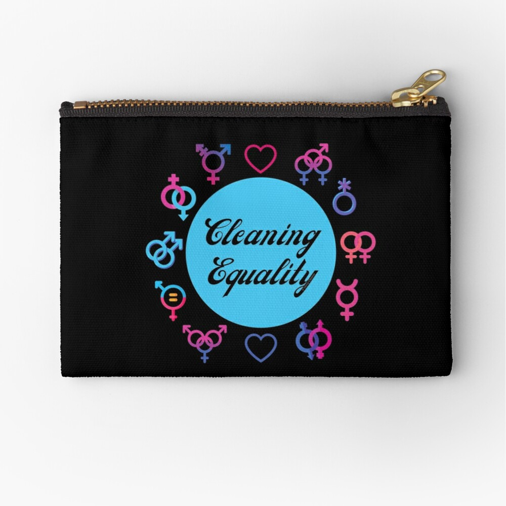 Cleaning Equality Gender Inclusive Housekeeping Pride Zipper Pouch