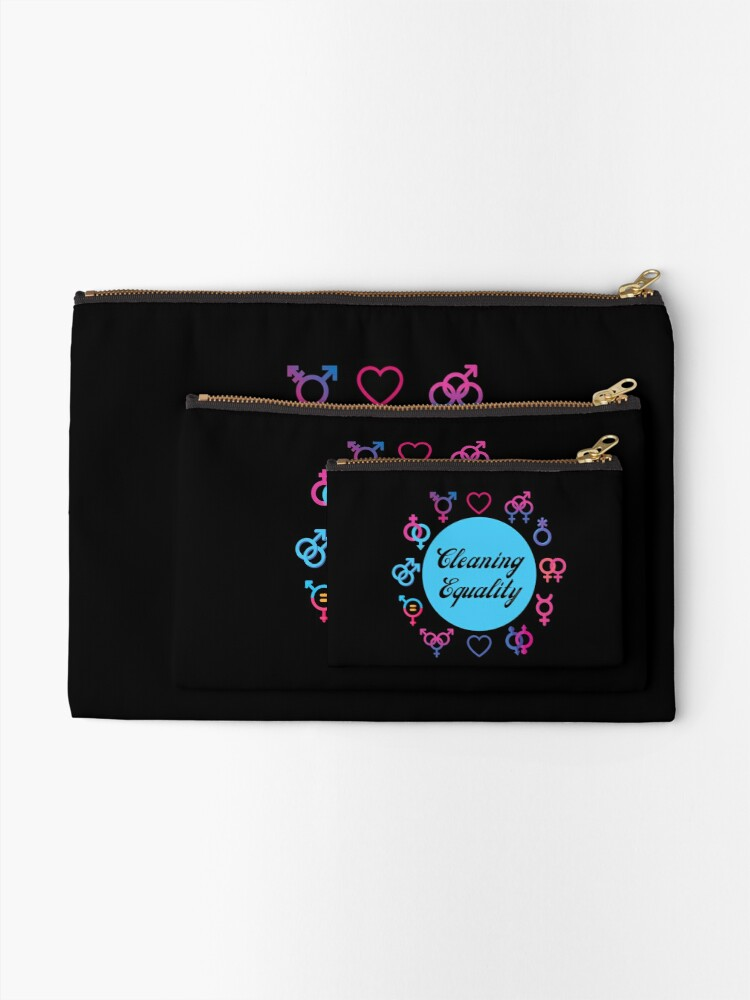 Alternate view of Cleaning Equality Gender Inclusive Housekeeping Pride Zipper Pouch