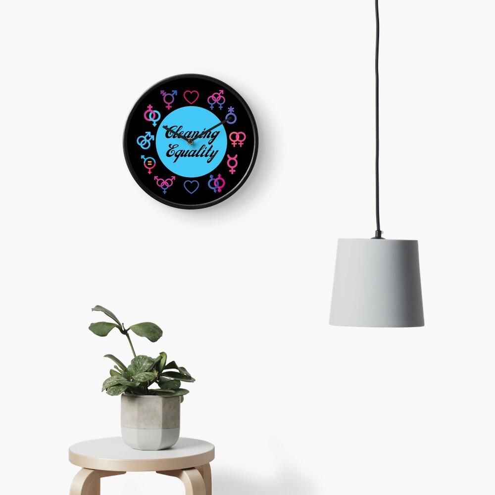 Cleaning Equality Gender Inclusive Housekeeping Pride Clock