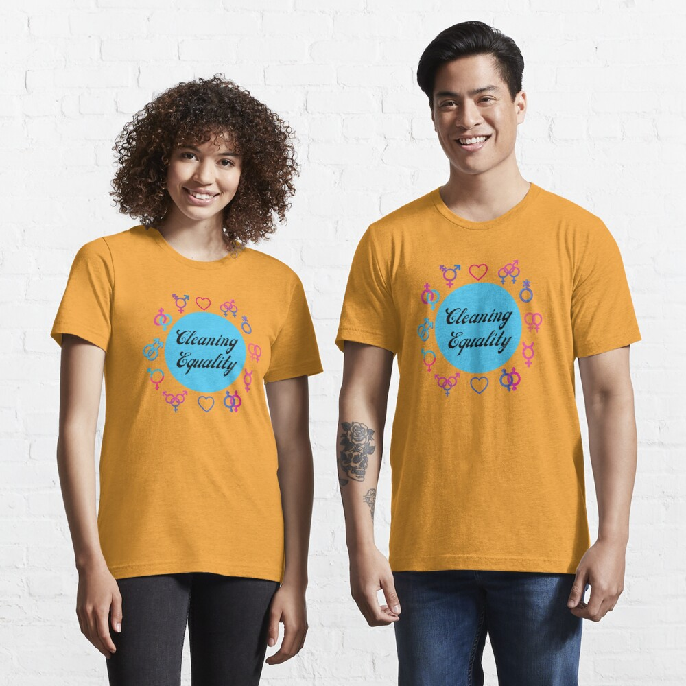 Cleaning Equality Gender Inclusive Housekeeping Pride Essential T-Shirt