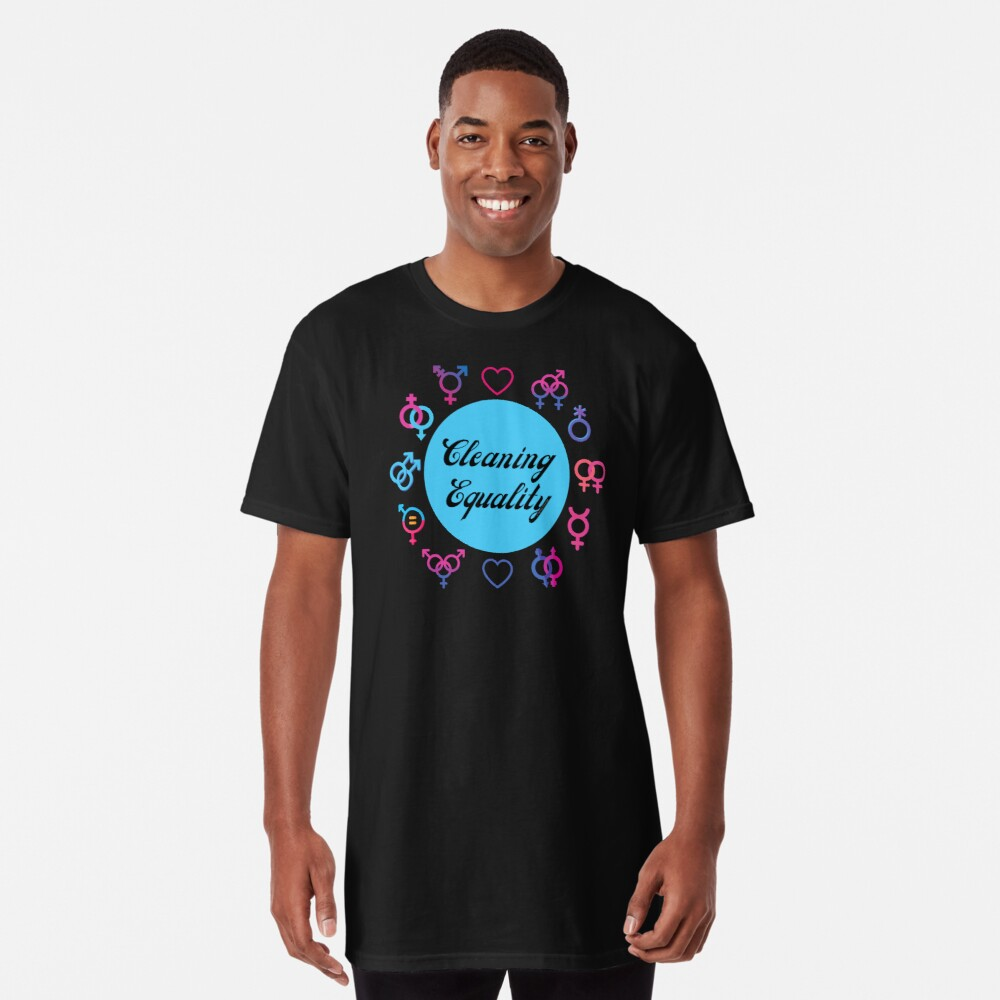 Cleaning Equality Gender Inclusive Housekeeping Pride Long T-Shirt