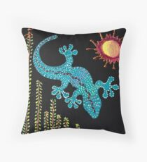 Redreaming Gecko under the Willow Throw Pillow