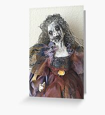 Lady Macabre Greeting Card