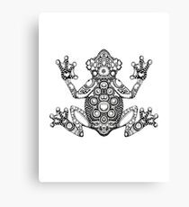 Frog Zentangle Canvas Print