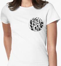 Hypnic Jerks Circle Logo Motif Women's Fitted T-Shirt