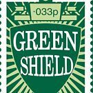 NDVH Green Shield Stamp by nikhorne