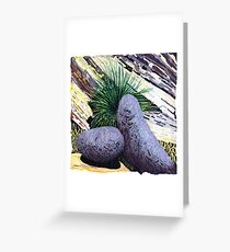 Two large rounded ROCKS * Greeting Card