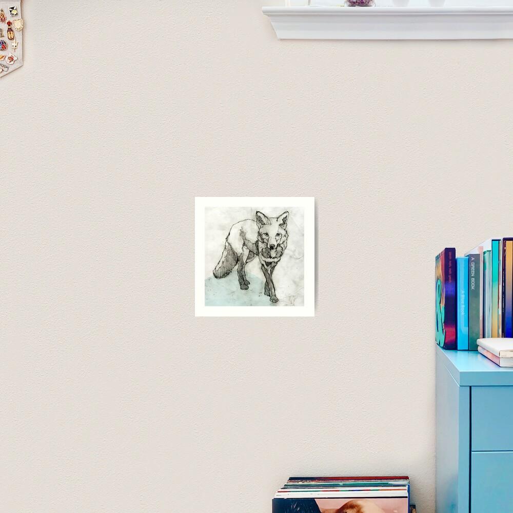 Fuchs Zeichnung Kunstdruck