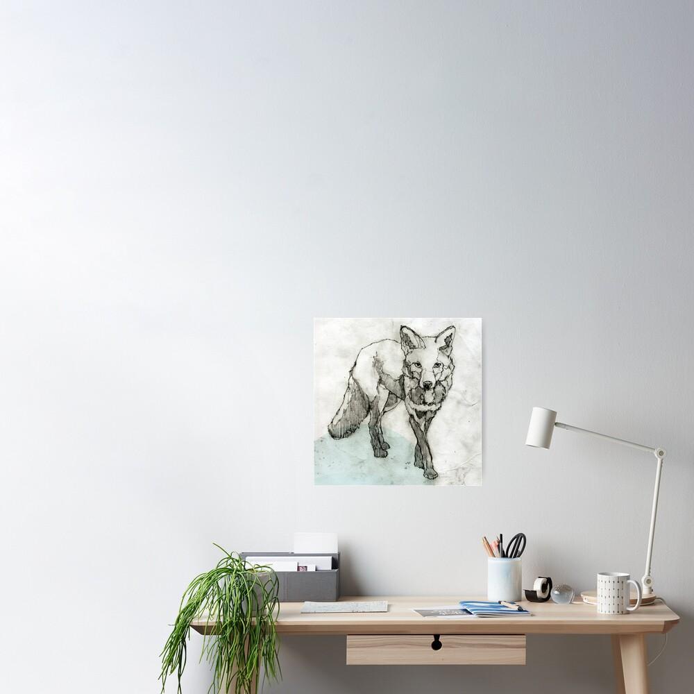 Fuchs Zeichnung Poster