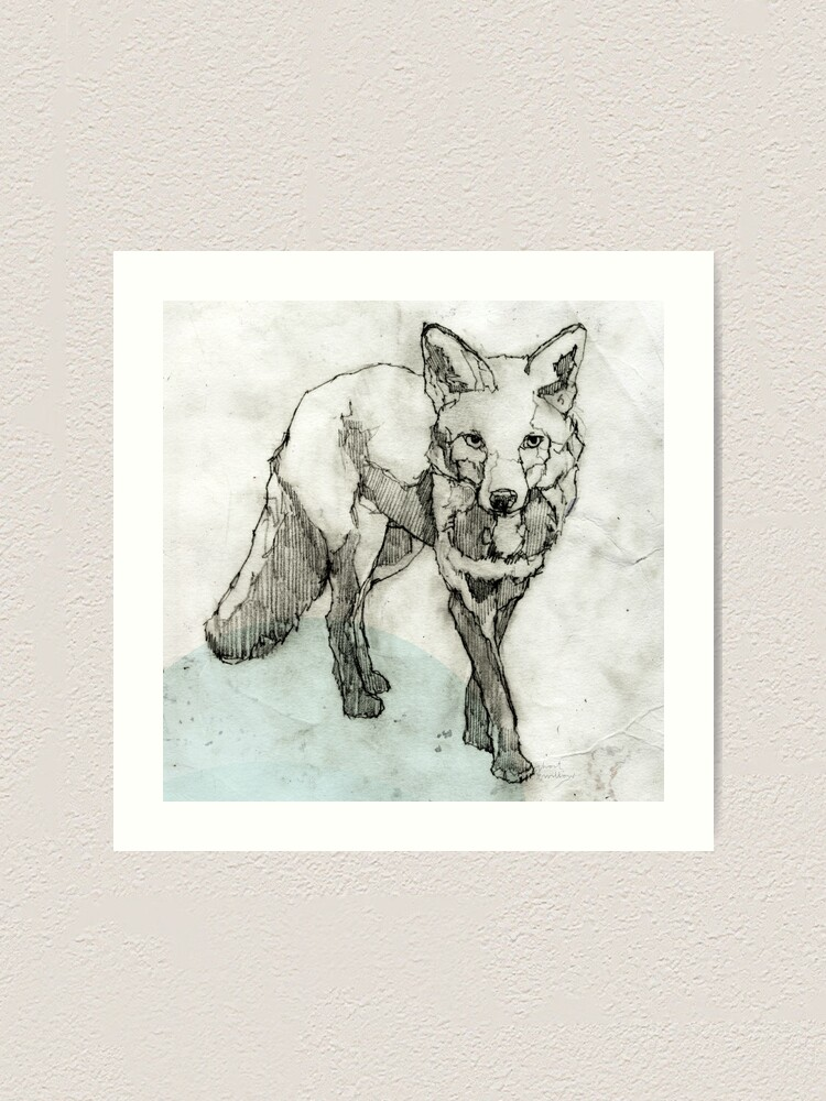 Alternative Ansicht von Fuchs Zeichnung Kunstdruck