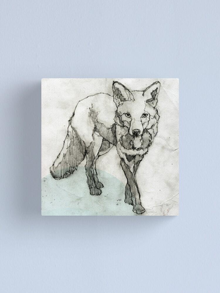 Alternative Ansicht von Fuchs Zeichnung Leinwanddruck