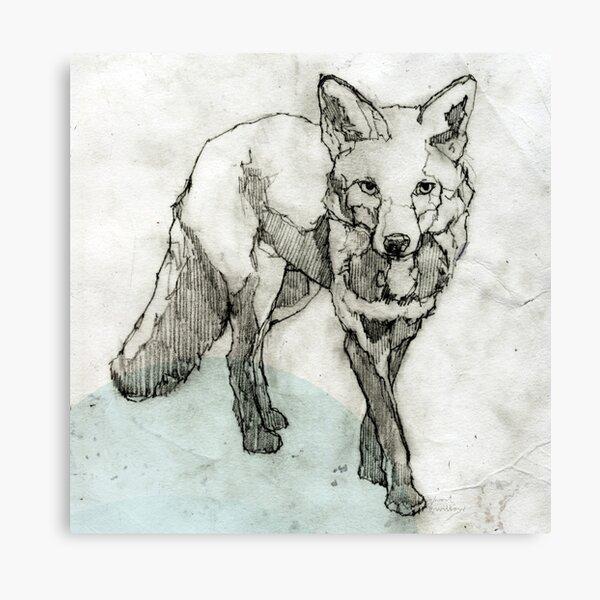 Fuchs Zeichnung Leinwanddruck