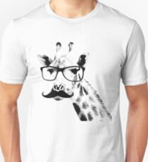 Giraffe with beard and glasses T-Shirt