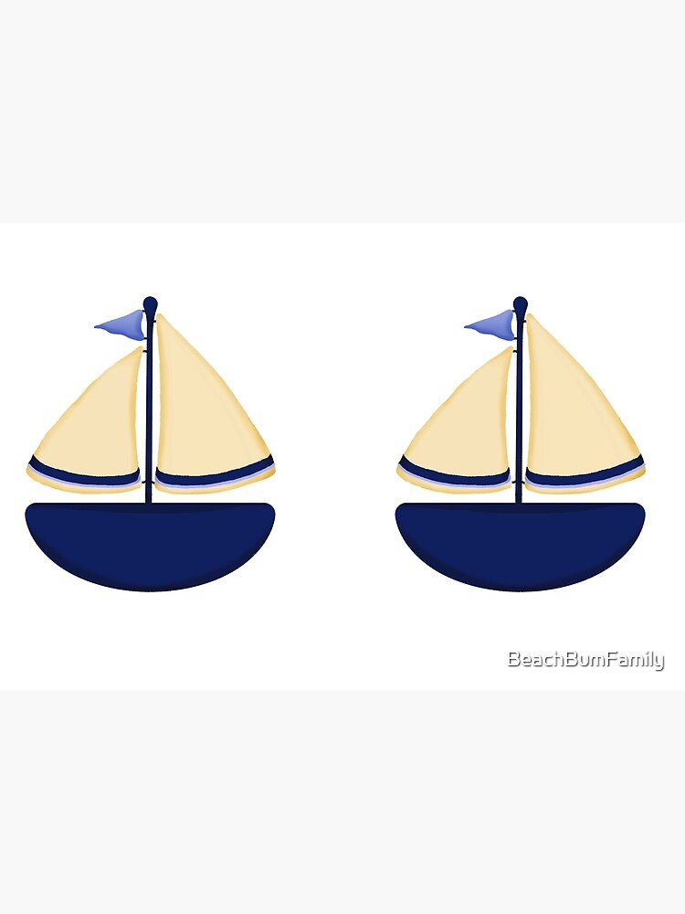Blue and Yellow Sailboat by BeachBumFamily