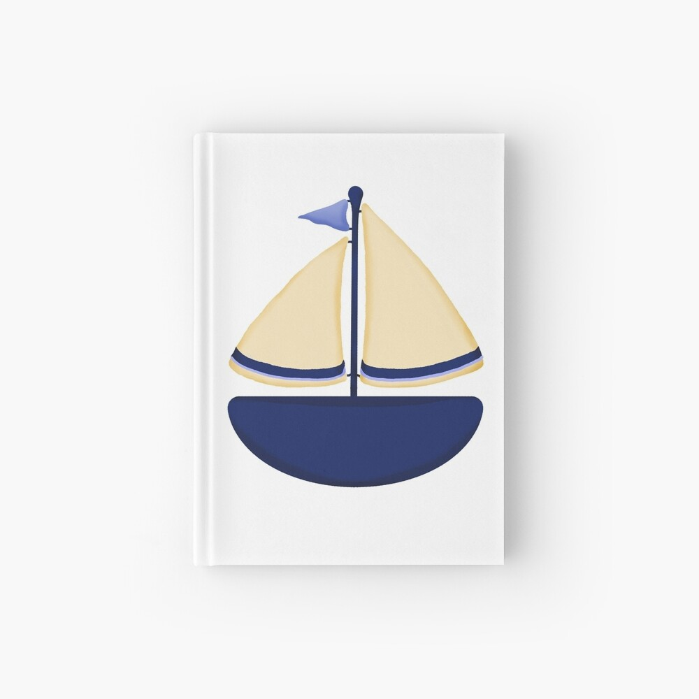 Blue and Yellow Sailboat Hardcover Journal
