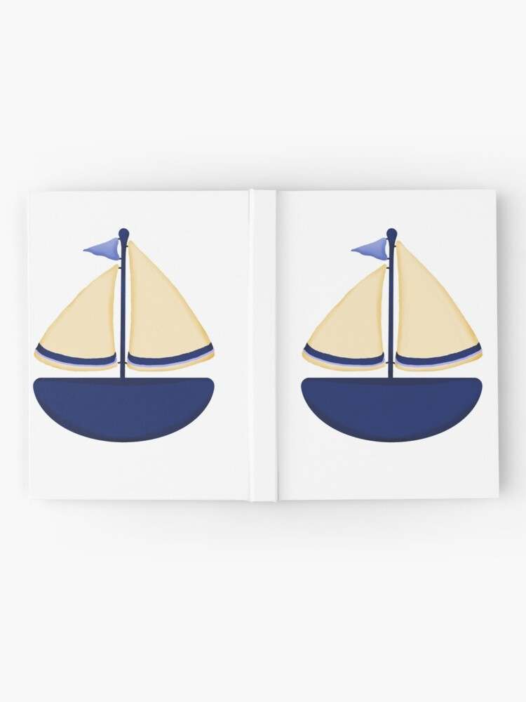 Alternate view of Blue and Yellow Sailboat Hardcover Journal