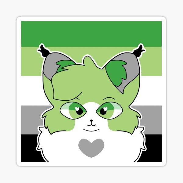 Aromantic Pride Cat Sticker