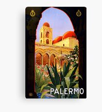 Palermo Sicily Vintage Travel Poster Canvas Print
