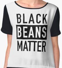 Black Beans Matter Chiffon Top