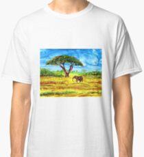 The Wanderer elephant safari alcohol ink Africa  Classic T-Shirt