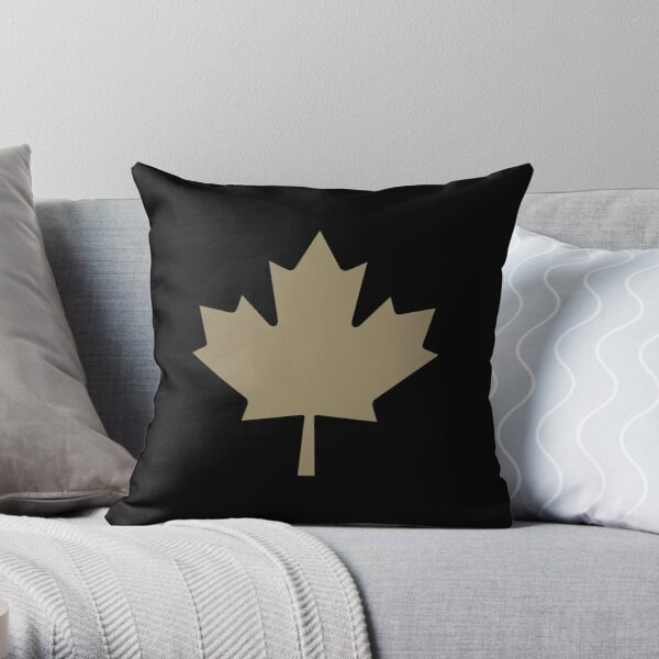 Maple Leaf Pattern - Drake Gold Throw Pillow