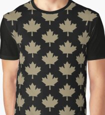 Maple Leaf Pattern - Drake Gold Graphic T-Shirt