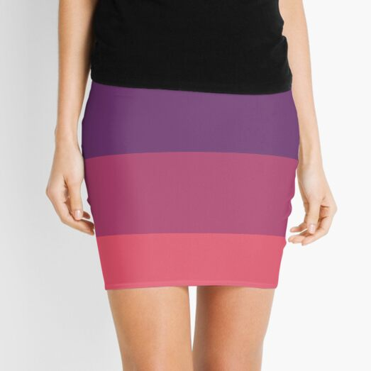 Magma Sky Mix Solid Color Mini Skirt