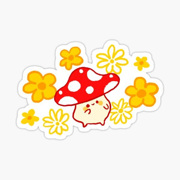 Groovy Vibing Mushroom Sticker