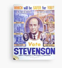 Vintage poster - Adlai Stevenson Canvas Print