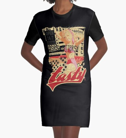 TASTY™ Vintage Swimsuit Pin-up Graphic T-Shirt Dress