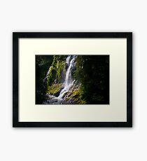 Boulder River Falls Detail – Boulder River Wilderness, Washington Framed Print