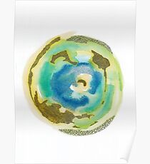 Not Quite Earth Abstract Map Poster